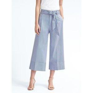 Banana Republic Wide Leg Tie-Waist Crop Pants
